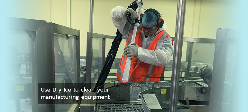 Use Dry Ice to clean your manufacturing equipment